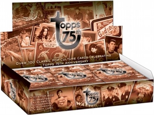 Topps 75th Anniversary Classic Pop Culture Trading Card Box Case [8 boxes]