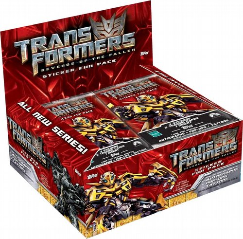Transformers Revenge of the Fallen Sticker Card Fun Packs Box [Hobby]