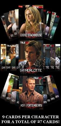 True Blood Legends Series 1 Trading Card Set (Sookie Stackhouse, Sam Merlotte, & Hoyt Foytenberry)