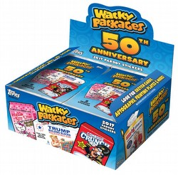 Wacky Packages 50th Anniversary Stickers Box [Hobby/2017]