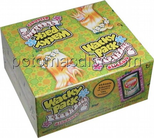 Wacky Pack Flashback 2 Stickers Box [Topps]