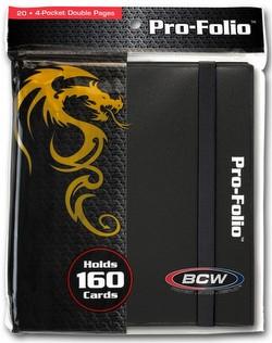 BCW 4-Pocket Pro-Folio Black