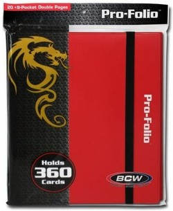 BCW 9-Pocket Pro-Folio Red