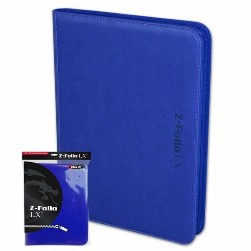 BCW 9-Pocket Z-Folio LX Blue