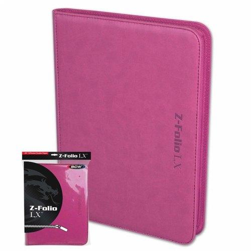 BCW 9-Pocket Z-Folio LX Pink