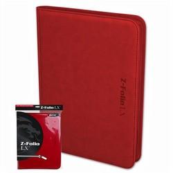 BCW 9-Pocket Z-Folio LX Red