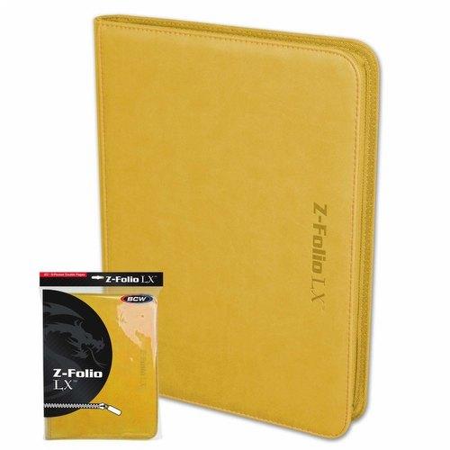 BCW 9-Pocket Z-Folio LX Yellow
