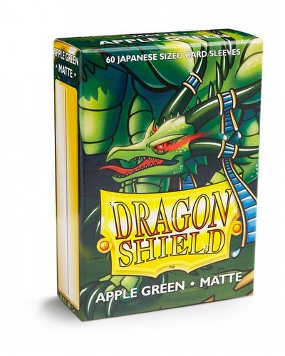 Dragon Shield Japanese (Yu-Gi-Oh Size) Card Sleeves Pack - Matte Apple Green