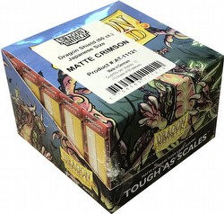 Dragon Shield Japanese (Yu-Gi-Oh Size) Card Sleeves Box - Matte Crimson [10 packs]