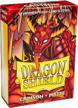 Dragon Shield Japanese (Yu-Gi-Oh Size) Card Sleeves Box - Matte Crimson [10 packs]