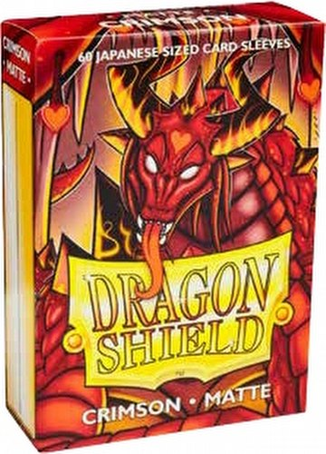 Dragon Shield Japanese (Yu-Gi-Oh Size) Card Sleeves Pack - Matte Crimson