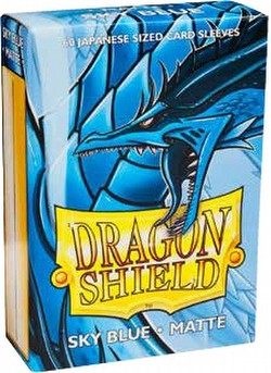 Dragon Shield Japanese (Yu-Gi-Oh Size) Card Sleeves Pack - Matte Sky Blue