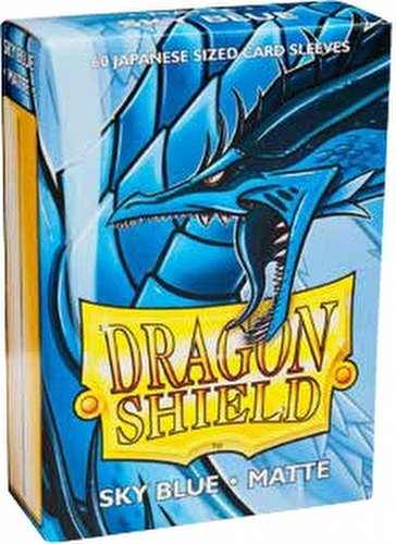 Dragon Shield Japanese (Yu-Gi-Oh Size) Card Sleeves Box - Matte Sky Blue [10 packs]