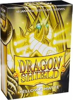 Dragon Shield Japanese (Yu-Gi-Oh Size) Card Sleeves Box - Matte Yellow [10 packs]