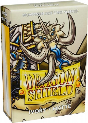 Dragon Shield Japanese (Yu-Gi-Oh Size) Card Sleeves Box - Matte Ivory [10 packs]