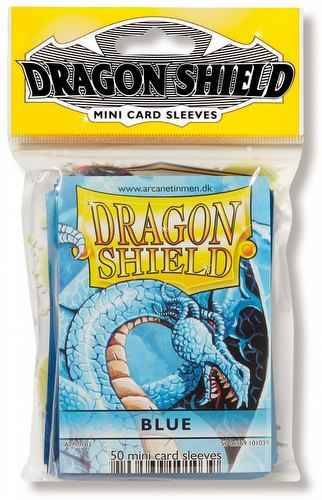 Dragon Shield Mini (Yu-Gi-Oh Size) Card Sleeves Pack - Blue