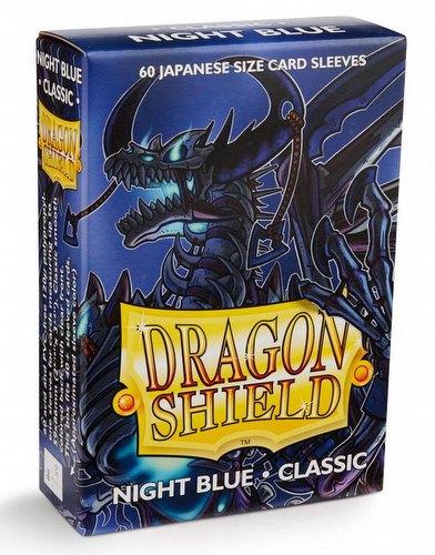 Dragon Shield Japanese (Yu-Gi-Oh Size) Card Sleeves Box - Classic Night Blue [10 packs]