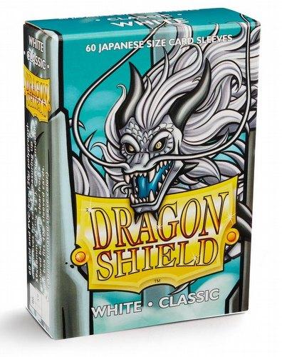 Dragon Shield Japanese (Yu-Gi-Oh Size) Card Sleeves Box - Classic White [10 packs]