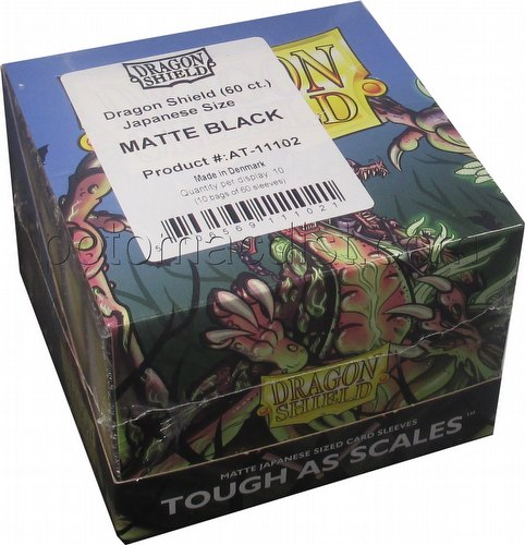 Dragon Shield Japanese (Yu-Gi-Oh Size) Card Sleeves Box - Matte Black [10 packs]