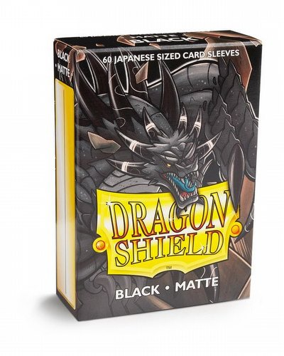 Dragon Shield Japanese (Yu-Gi-Oh Size) Card Sleeves Box - Matte Black [10 packs]