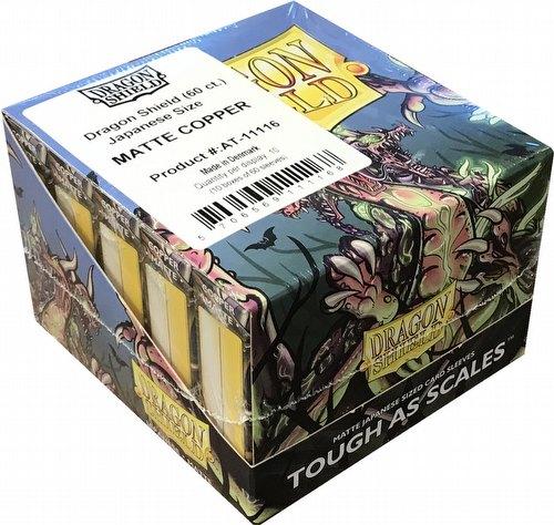 Dragon Shield Japanese (Yu-Gi-Oh Size) Card Sleeves Box - Matte Copper [10 packs]