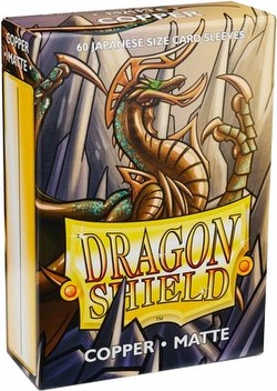 Dragon Shield Japanese (Yu-Gi-Oh Size) Card Sleeves Pack - Matte Copper