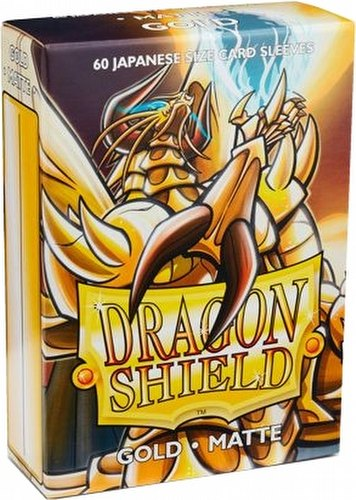 Dragon Shield Japanese (Yu-Gi-Oh Size) Card Sleeves Box - Matte Gold [10 packs]