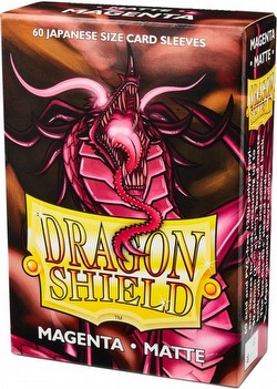 Dragon Shield Japanese (Yu-Gi-Oh Size) Card Sleeves - Matte Magenta [2 Packs]