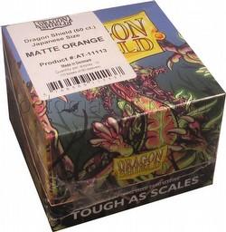 Dragon Shield Japanese (Yu-Gi-Oh Size) Card Sleeves Box - Matte Orange [10 packs]