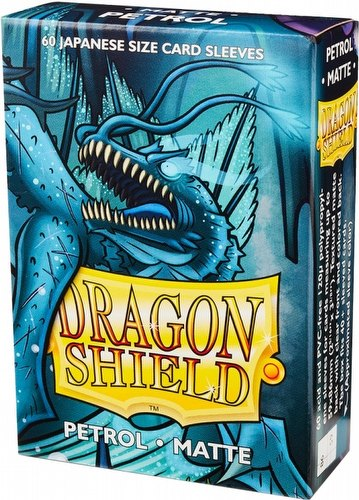 Dragon Shield Japanese (Yu-Gi-Oh Size) Card Sleeves Box - Matte Petrol [10 packs]