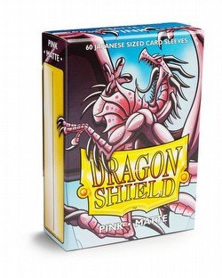 Dragon Shield Japanese (Yu-Gi-Oh Size) Card Sleeves Box - Matte Pink [10 packs]