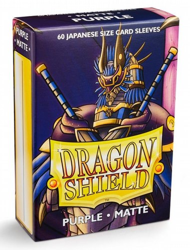 Dragon Shield Japanese (Yu-Gi-Oh Size) Card Sleeves Pack - Matte Purple