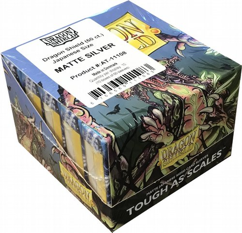 Dragon Shield Japanese (Yu-Gi-Oh Size) Card Sleeves Box - Matte Silver [10 packs]