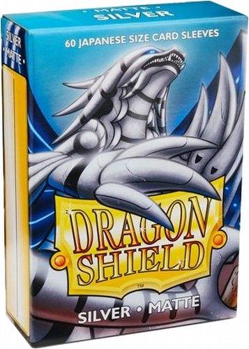 Dragon Shield Japanese (Yu-Gi-Oh Size) Card Sleeves - Matte Silver [2 Packs]