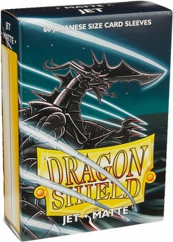 Dragon Shield Japanese (Yu-Gi-Oh Size) Card Sleeves Box - Matte Jet [10 packs]