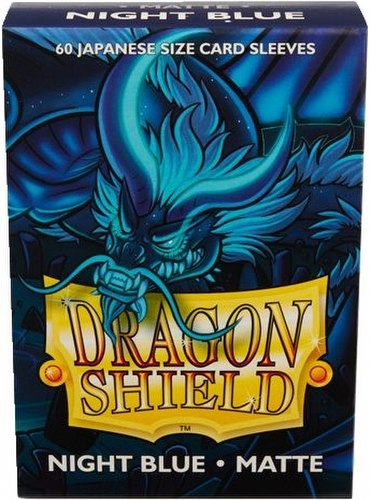 Dragon Shield Japanese (Yu-Gi-Oh Size) Card Sleeves Box - Matte Night Blue [10 packs]