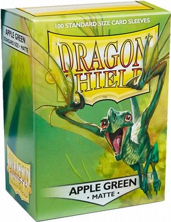 Dragon Shield Standard Size Card Game Sleeves Pack - Matte Apple Green