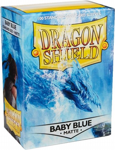 Dragon Shield Standard Size Card Game Sleeves Pack - Matte Baby Blue