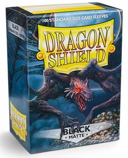 Dragon Shield Standard Size Card Game Sleeves Pack - Matte Black