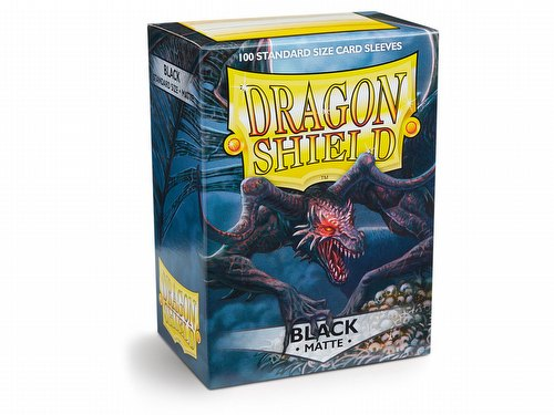 Dragon Shield Deck Protector Pack - Matte Black