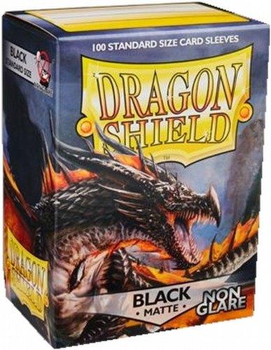 Dragon Shield Sleeves Pack - Matte Black Non-Glare Amina