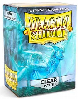 Dragon Shield Standard Size Card Game Sleeves Pack - Matte Clear