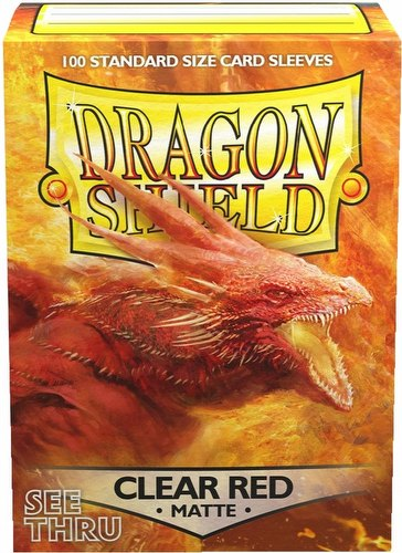 Dragon Shield Standard Size Card Game Sleeves Pack - Matte Clear Purple