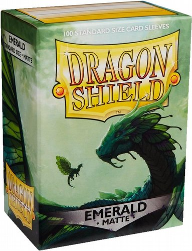 Dragon Shield Standard Size Card Game Sleeves Pack - Matte Emerald