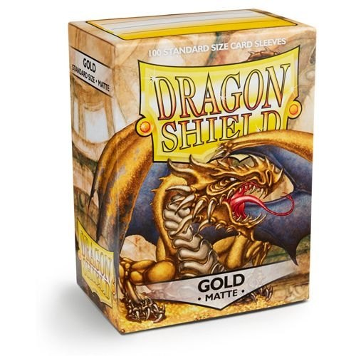 Dragon Shield Standard Size Card Game Sleeves Box - Matte Gold