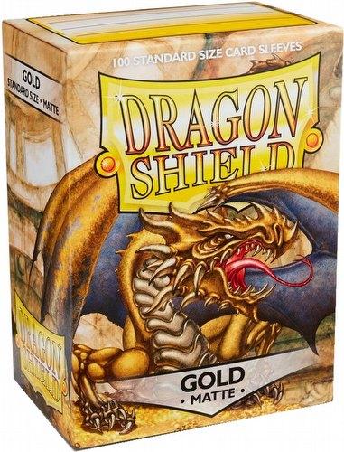 Dragon Shield Standard Size Card Game Sleeves - Matte Gold [2 packs]