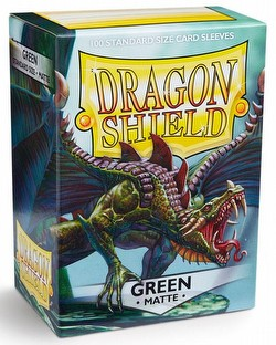Dragon Shield Standard Size Card Game Sleeves Pack - Matte Green