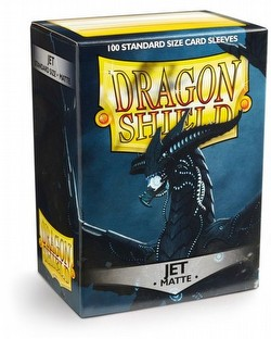 Dragon Shield Standard Size Card Game Sleeves Pack - Matte Jet