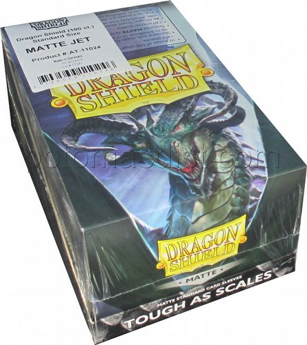 Dragon Shield Standard Size Card Game Sleeves Box - Matte Jet