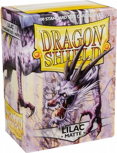 Dragon Shield Standard Size Card Game Sleeves - Matte Lilac [2 packs]